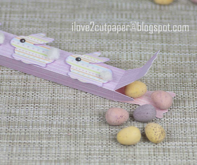 Easter Bunny Cracker Box, Easter Egg Box, ilove2cutpaper, LD, Lettering Delights, Pazzles, Pazzles Inspiration, Pazzles Inspiration Vue, Inspiration Vue, Print and Cut, svg, cutting files, templates, Silhouette Cameo cutting machine, Brother Scan and Cut, Cricut