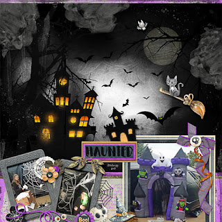Creative Team, Annemarie, for Neia Scraps Designs - Boo - Bundle + *FWP* coordinating kit
