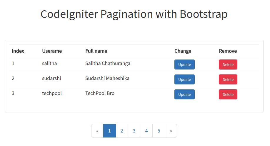 Pagination in CodeIgniter