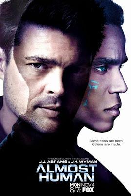 Poster oficial pentru serialul sci-fi Almost Human produs de J.J.Abrams