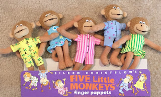 Monkey storytime, Five little monkeys