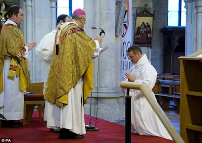 WHEN GOD CALLS YOU!!! FORMER MAN UNITED FOOTBALL STAR BECOMES A CATHOLIC DEACON (PHOTOS)