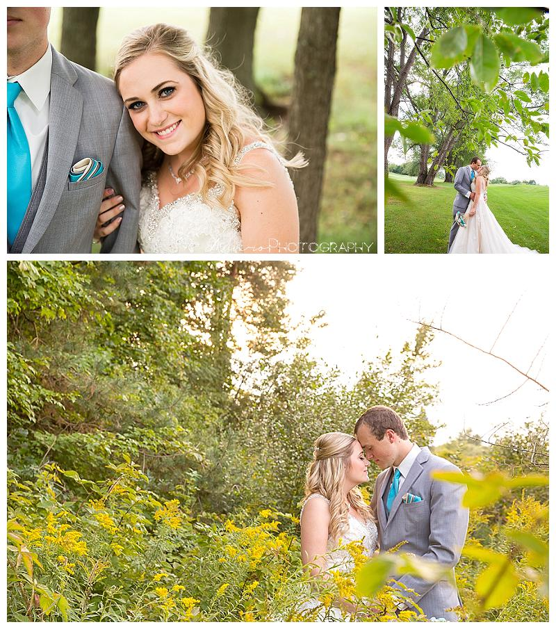 teal wedding, bride, groom, michigan wedding, bridal portraits, country, medalist
