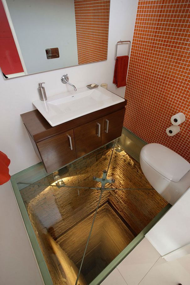 Glass Floor and an Open Shaft Below your Bathroom