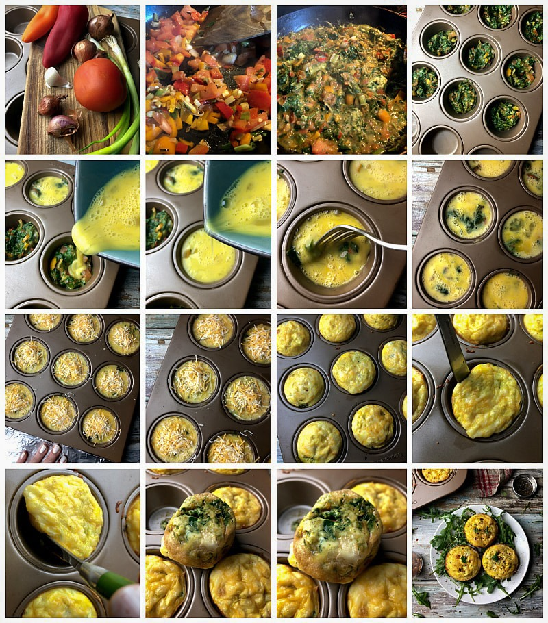 Simple, healthy and delicious Mini Meatless Frittata Cups. Check this recipe and many more at sandraseasycooking.com #food #homemade #recipes #baking