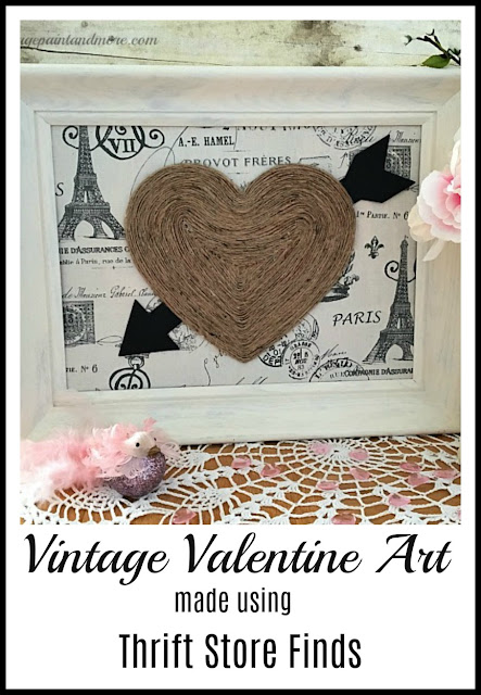 Vintage Paint and more - making a vintage Valentine wall art using thrift store finds
