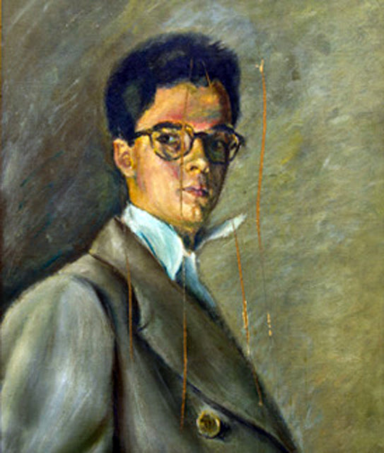 Emilio Pérez Piñero, Self Portrait, Portraits of Painters, Pérez Piñero, Fine arts, Portraits of painters blog, Paintings of Emilio Pérez Piñero, Painter Emilio Pérez Piñero