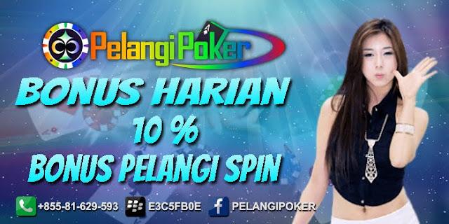Bonus-Harian-10%-Terbesar-Pelangi-Poker-2019