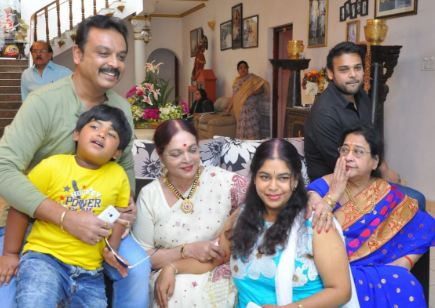 Vijaya Nirmala Family Husband Parents children's Marriage Photos