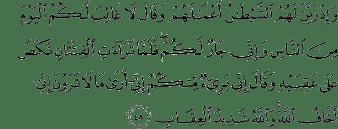 Surat Al Anfal Ayat 48