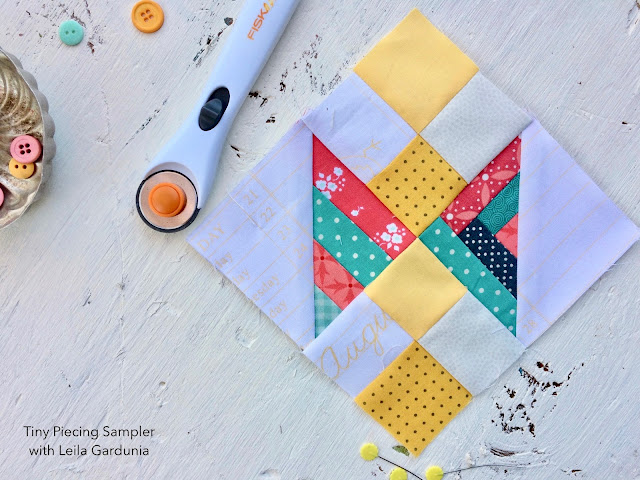 "6"" and 12"" quilt block tutorials made with foundation paper pieced Scrappy Triangles. Perfect for scrap busting and using up bits of leftover fabric."