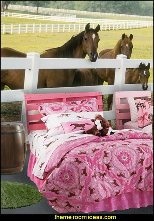 horse theme bedroom - horse bedroom decor - horse themed bedroom decorating ideas - Equestrian decor - equestrian themed rooms - cowgirl theme bedroom decorating ideas - Dressage Wall Decals - English riding theme - equestrian bedding - Horse Riding bedding - horse stuff for your bedroom - Pony bedroom ideas -