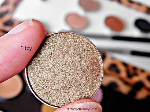 Makeup Geek Duo Chrome Eye Shadow Ritzy Swatch