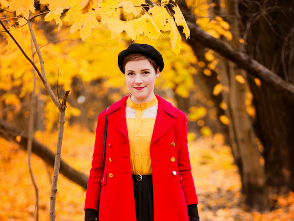 Outfit: Yellow and red