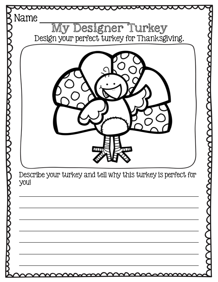 How to cook a turkey childrens writing activities