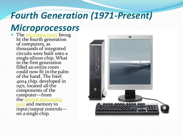 Fourth-generation computers studying computer history.