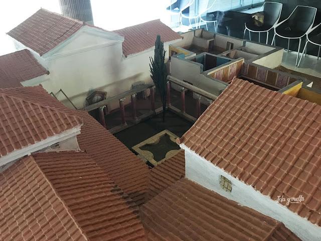 Maqueta de una villa en el Museo de las villas