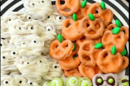 HALLOWEEN PRETZELS THREE WAYS