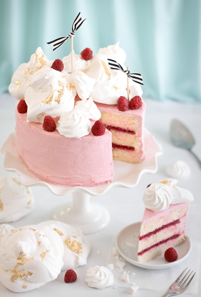 Raspberry Rose Water Layer Cake Sprinkle Bakes