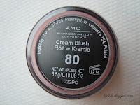 Inglot AMC cream blush makijaż