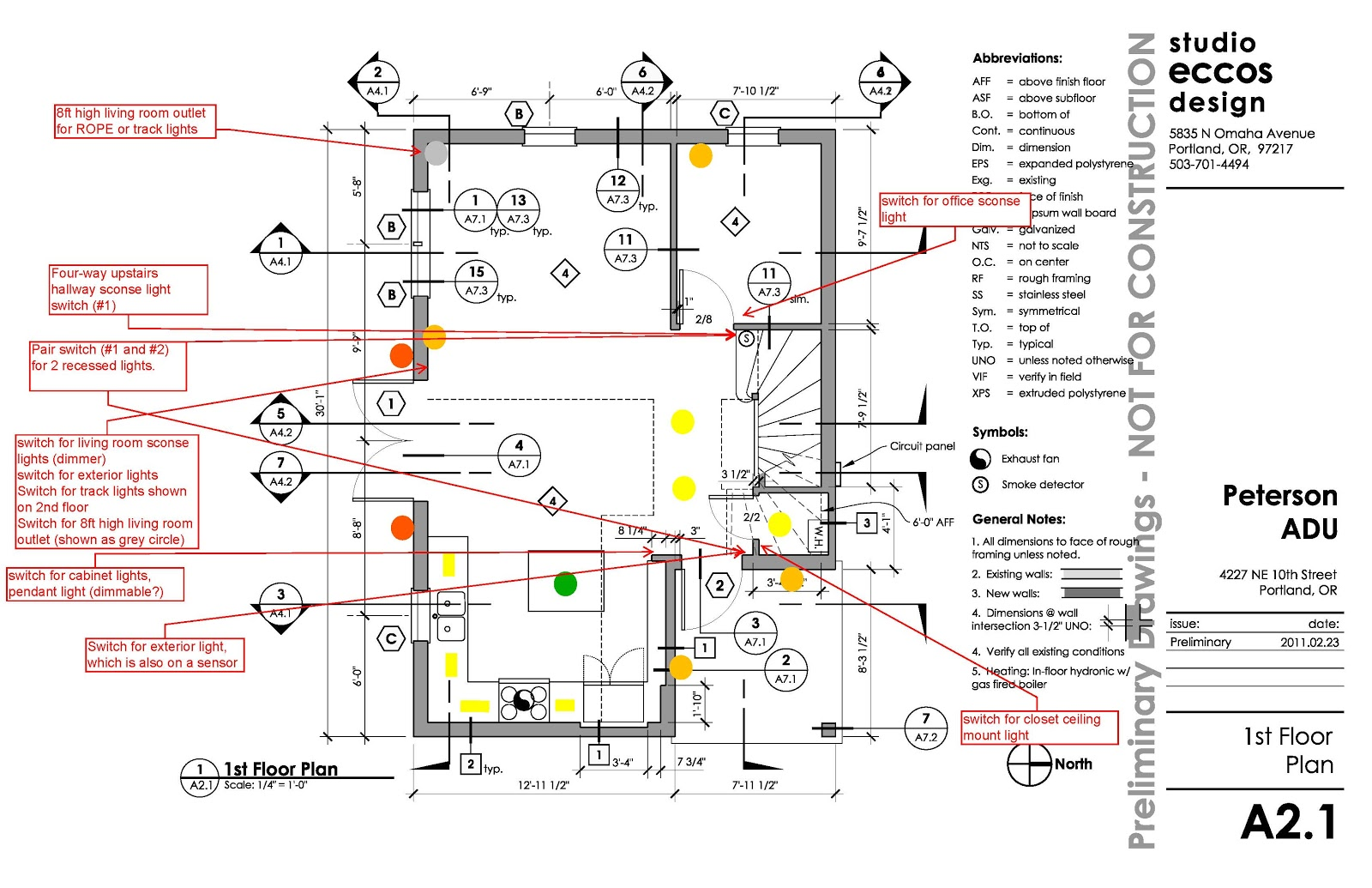 hight resolution of lighting plan for first floor