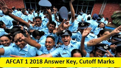 AFCAT 1 2018 Answer Key, Cutoff Marks