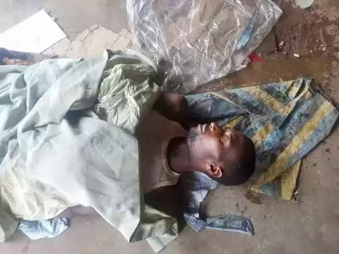 Tragedy as Man Slumps and Dies at a Market...Checkout His ID If You Know Him (Photos)