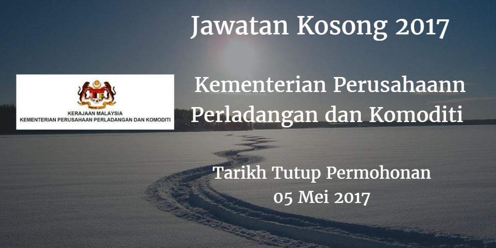 Jawatan Kosong MPIC 05 Mei 2017