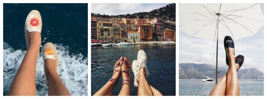 sapato, mar, pernas, viagem