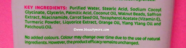 Reduces sun tan, removes dead skin, brightens skin tone these are the benefits that Mamaearth Ubtan Face Wash offers. Specially formulated for dry skin type, definitely can be used on all skin types. Contains turmeric, licorice and saffron extracts, carrot seed oil etc. which lightens and brightens skin. This face wash repairs sun damage so removes tan to some extent. Also contains exfoliating walnut beads, so mildly scrubs away dead skin cells without drying out skin. Free from paraben & SLS, hypoallergenic. Gentle on sensitive skin too.