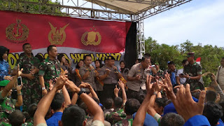 Olah Raga  Bersama Perkuat Sinergisitas TNI Dan Polri