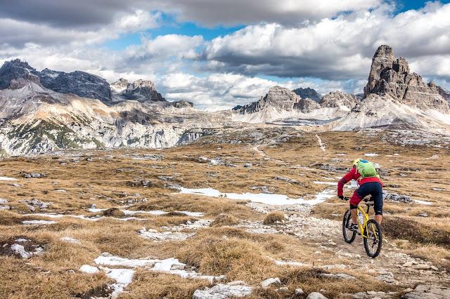 MTB - Monte Piano/ Mt. Piana Cima Nord und Cima Sud 2324 m.ü.A. Mountainbike Tour Toblach, Dolomiten