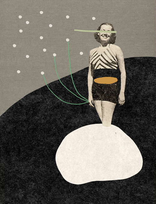 Doctor Ojiplático. Mathilde Aubier. Collage