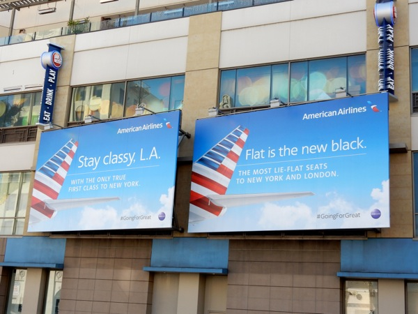 American Airlines Going for great billboards