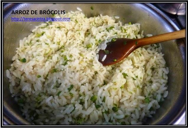 ARROZ; almoço; brócolis