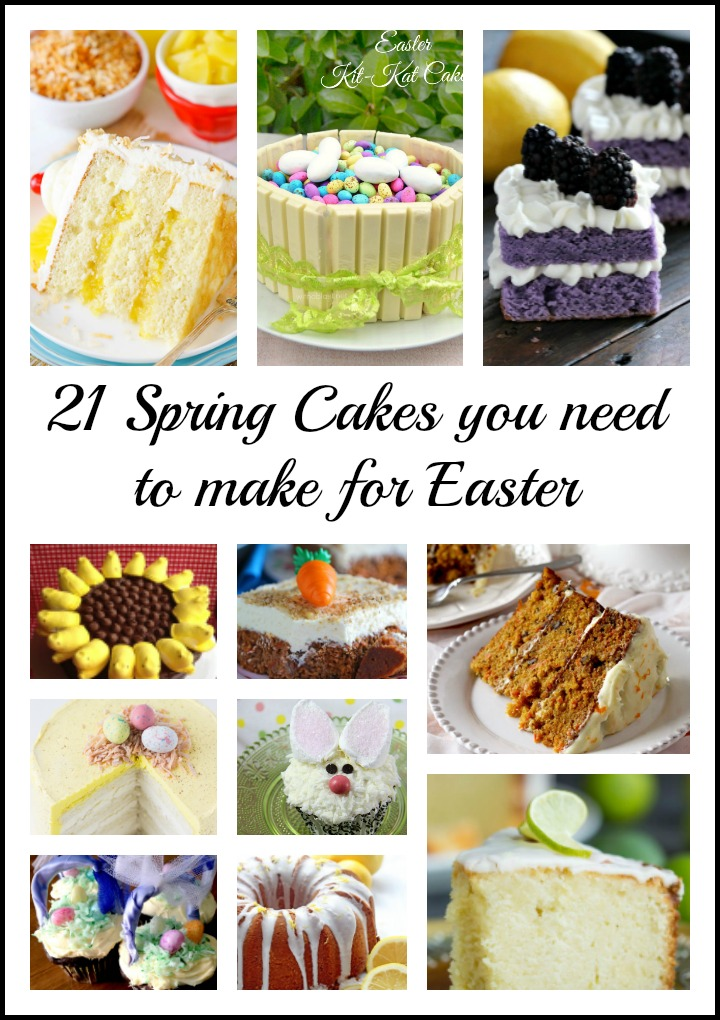 Easter Cake Recipes, Mother's Day Cake Recipes, Bunny Cakes