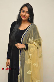 Actress Grace Myrtle Pos in Black Anarkali Dress at Beep Short Film Press Meet  0004.jpg