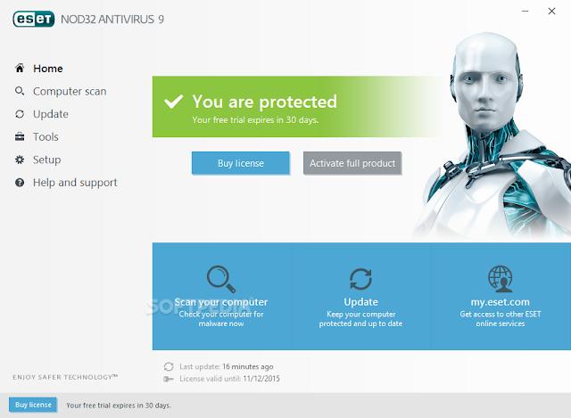 تحميل برنامج نود انتي فايروس للكمبيوتر ESET NOD32 Antivirus 9.0