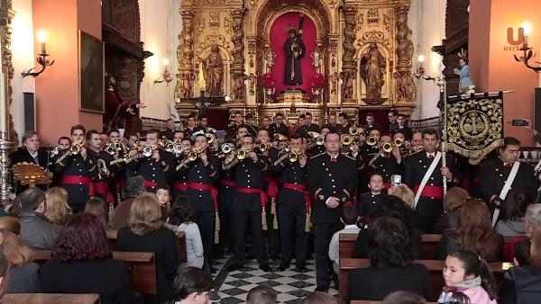 """Estreno de la marcha """"Stabat Mater Dolorosa"""" por parte de Banda de Cornetas y Tambores Vera+Cruz de Utrera"""