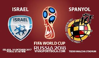 Prediksi Israel vs Spanyol 10 Oktober 2017