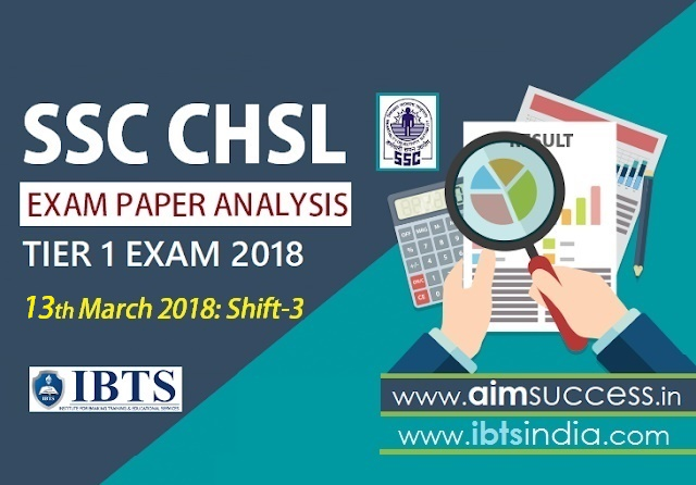 SSC CHSL Tier-I Exam Analysis 13th March 2018 Shift - 3