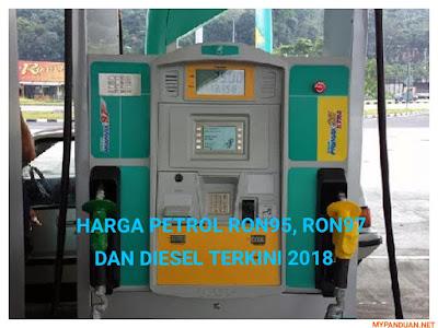 Harga Minyak Terkini Bulan Januari Petrol RON95, RON97 dan Diesel Tahun 2018