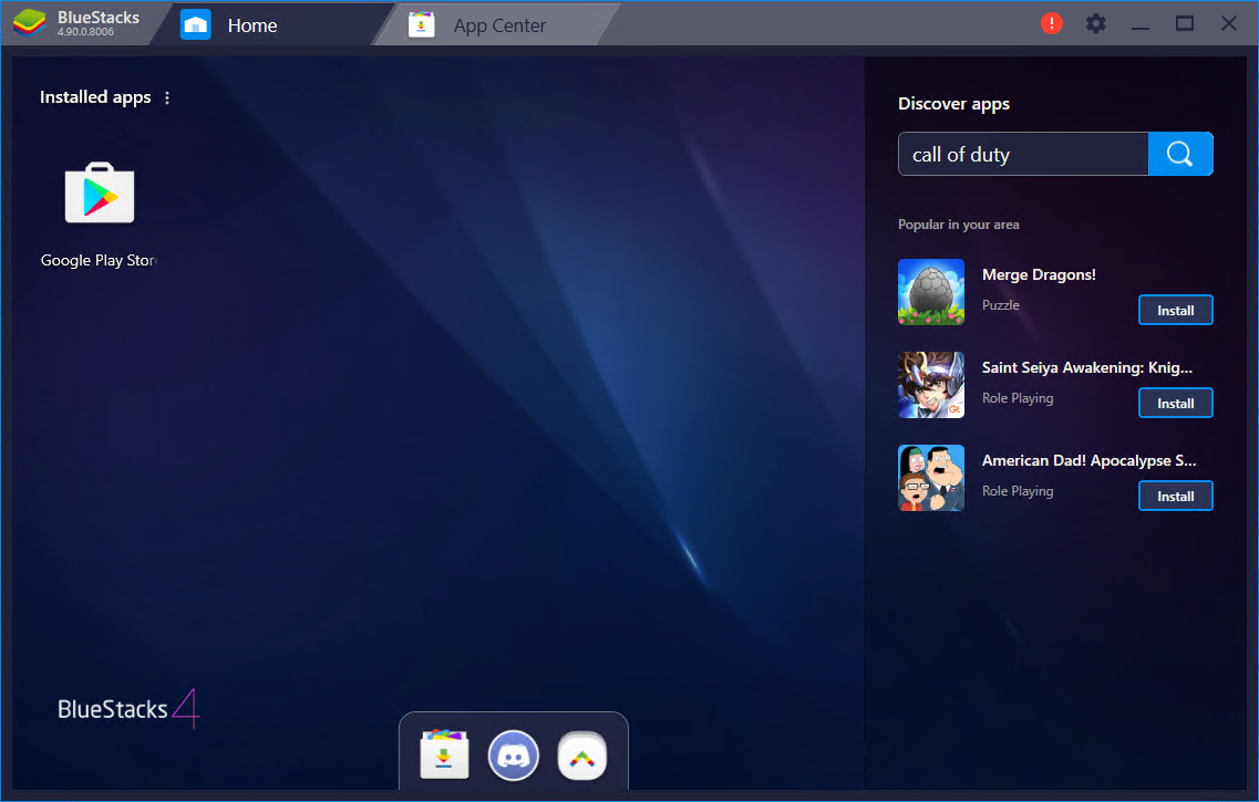 BlueStacks App Player 4.160.10.1119