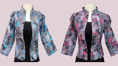 Baju Kerja Wanita Blazer Batik