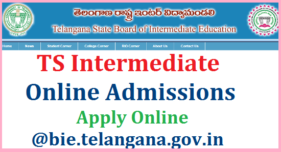 TS Intermediate Admissions Online Application Form Web Options @bie.telangana.gov.in | Board of Intermediate Education Govt of Telangana State BIE Telangana Inter Admissions Apply Online at Board of Intermediate Official Web Portal bie.telangana.gov.in | Online Admission Process for Intermediate for all Govt and Private Colleges in Telangana for the Academic year 2017-18 | Online Admission Form for Telangana Inter | Web based options for Inter Admissions in TS | Web based counselling for Inter Admissions 2017-18 | Web options should be done by the students who are seeking admissions into Intermediate, Telangana | Download Allotment letters of Seats for for web options ts-intermediate-online-admissions-application-form-web-options-allotment-of-seats.bie.telangana