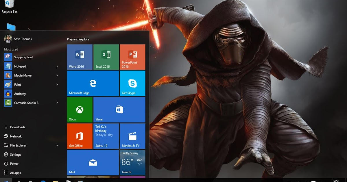 Star wars the force awakens theme windows 8 and 10 save for 5 star windows