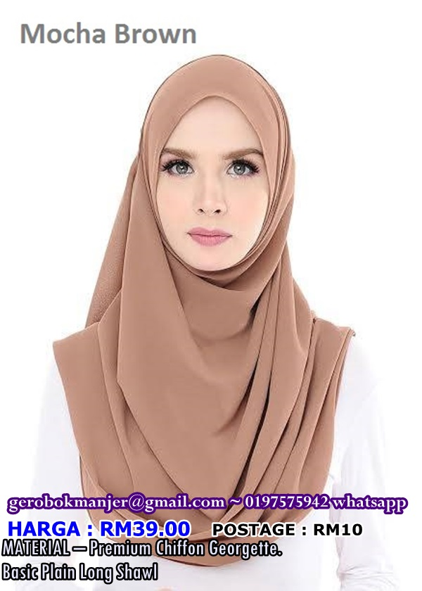 WIDE SHAWL CHIFFON PLAIN KELLIE DYANA