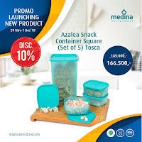 Dusdusan Azalea Snack Container Square (Set of 5) Tosca ANDHIMIND