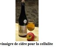 vinaigre de cidre pour la cellulite