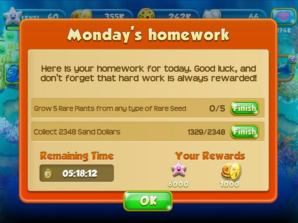nemos reef cheats homework